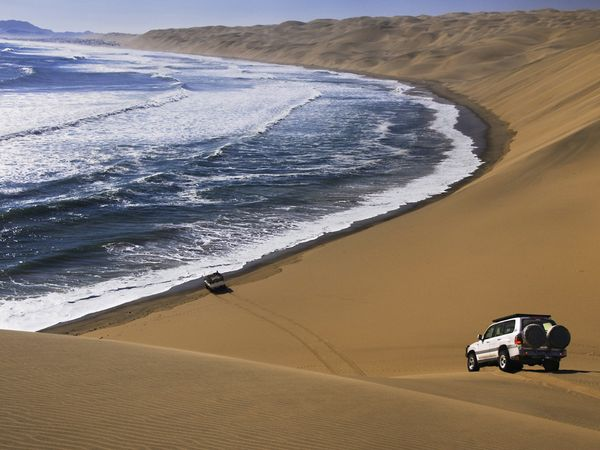 Namibia has some of the world's tallest sand dunes.